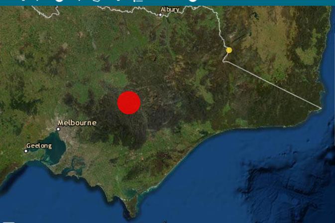 VIC earthquake location - Mansfield
